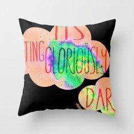 Gloriously dark Throw Pillow