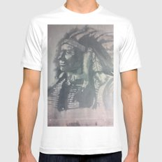 Indian Spirit White Mens Fitted Tee MEDIUM