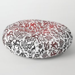 Joshua Tree Heart RED by CREYES Floor Pillow