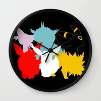 umbreon Wall Clocks featuring Evolutions by Tdrisk46