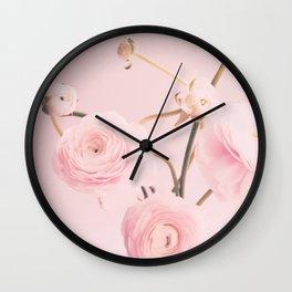 Floral Nursery Ranunculus II Wall Clock