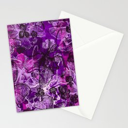 Wahine Lace Hawaiian Orchid Print Stationery Cards