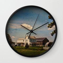 The Quiet Farmstead Wall Clock