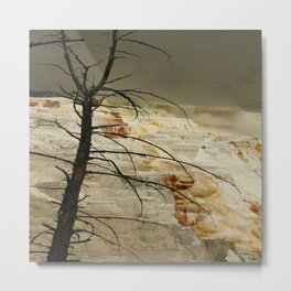 The Beauty Of A Travertine Terrace Metal Print