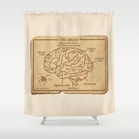 zombies Shower Curtains featuring Food education for Zombies by Rodrigo Ferreira
