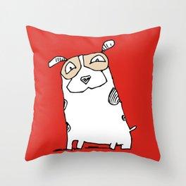 Happy mutt Throw Pillow