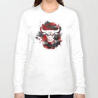 chicago bulls Long Sleeve T-shirts featuring Bulls Splatter by OhMyGod, SoGood!
