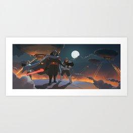 Darth Ghibli's Arrival Art Print