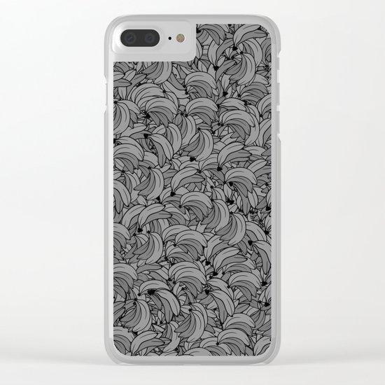 Plenty of Bananas - Gray Clear iPhone Case