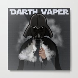 Darth Vaper Metal Print
