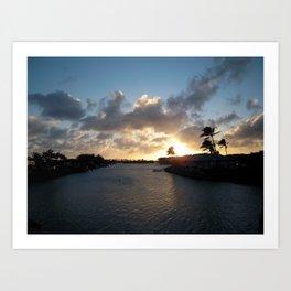 HAWAII KAI SUNSET #4 Art Print