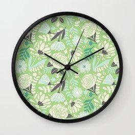 Silvestre flowers Wall Clock