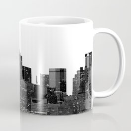 Dallas Texas Skyline in Black and White Coffee Mug