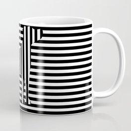 Dog on Stripes Coffee Mug