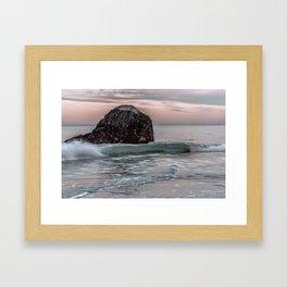 Wave at haystack in Rockport Framed Art Print