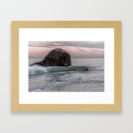 Wave at haystack in Rockport Framed Art Print