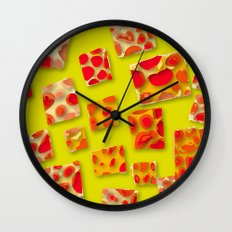 red spotted rectangles Wall Clock