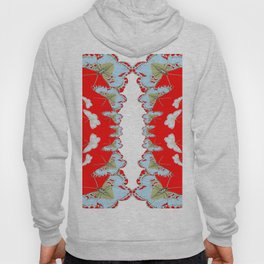 DESIGN PATTERN OF RED & WHITE BUTTERFLIES Hoody