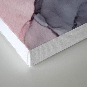Blush, Payne's Gray and Gold Metallic Abstract Leinwanddruck