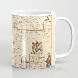 Vintage Map Print - Map of the Middle East: Turkey, Syria, Iraq, Israel etc. (1712) Coffee Mug