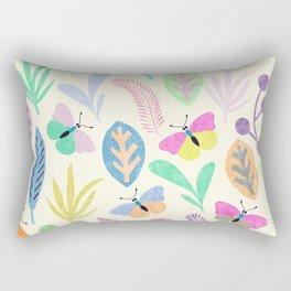 Flower and Butterfly II Rectangular Pillow