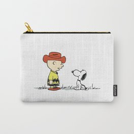 Charlie Brown And Snoopy Dog Carry-All Pouch