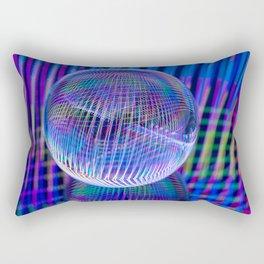 Criss Cross lights in the ball Rectangular Pillow