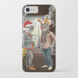 A Cats Night Out Christmas edition iPhone Case