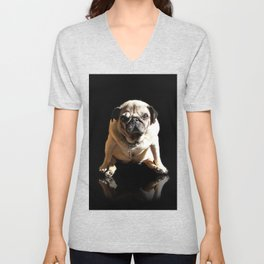 Pug Rock Superstar packshot Unisex V-Neck