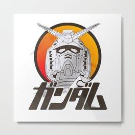 Gundam Mobile Suit Char Amuro Metal Print