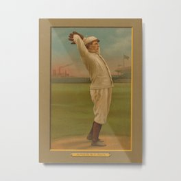 Vintage Backyard Baseball Player - Ames NY Metal Print