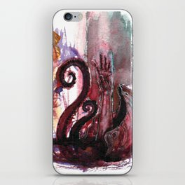 Dragged under by a giant Clam iPhone Skin