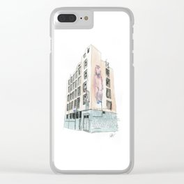 125 Manners Street Clear iPhone Case