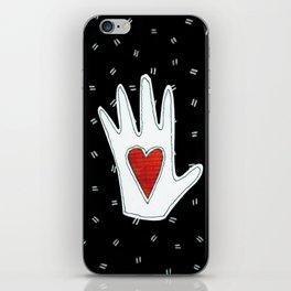 heart in hand iPhone Skin