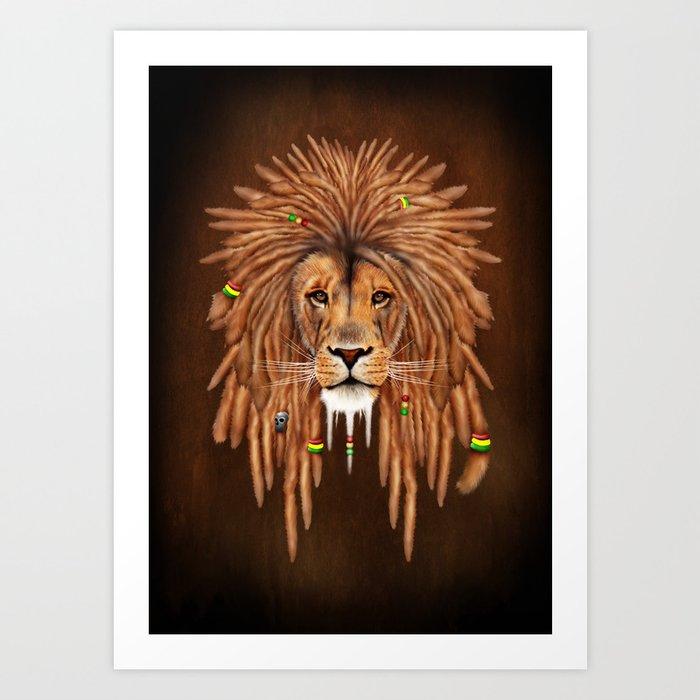 Dreadlock Lion Kunstdrucke