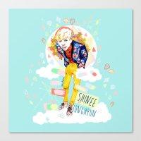 shinee Canvas Prints featuring SHINEE JONGHYUN by Haneul Home