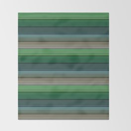 Striped green-gray pattern Throw Blanket