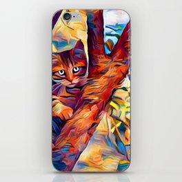 Cat in Tree iPhone Skin