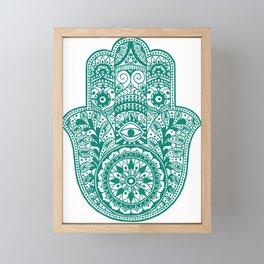 Hamsa | Hand of Fatima | Globetrotter Framed Mini Art Print