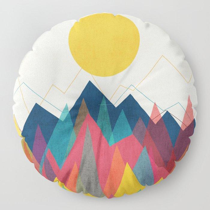 Uphill Battle Floor Pillow