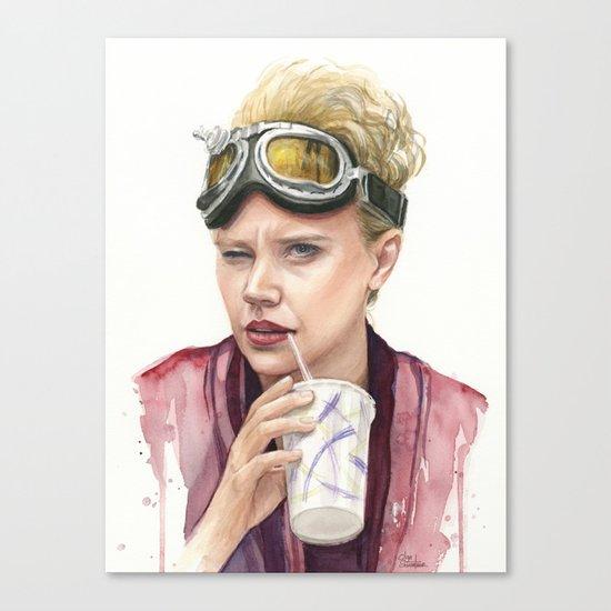 Jillian Holtzmann Portrait | Ghostbusters Art Painting Canvas Print