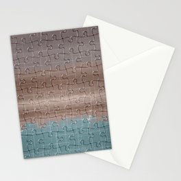 Jig-saw Puzzle Neutral Palette Design Stationery Cards