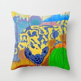 Gila Monster on Pallet Pop Art Throw Pillow