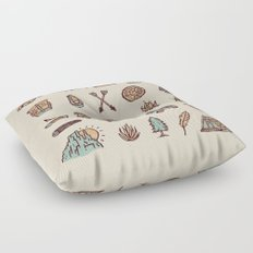 Lets Go Camping Floor Pillow
