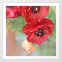 ruby Art Prints featuring Ruby by Lisa Argyropoulos