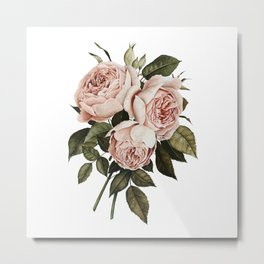 Three English Roses Metal Print