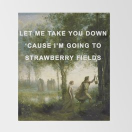 Orpheus Leading Eurydice to Strawberry Fields Throw Blanket