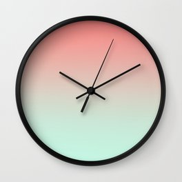 LAST FLIGHT - Minimal Plain Soft Mood Color Blend Prints Wall Clock