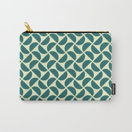 HALF-CIRCLES, TEAL Carry-All Pouch