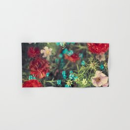 Spring Message - Colourful Flowers Hand & Bath Towel